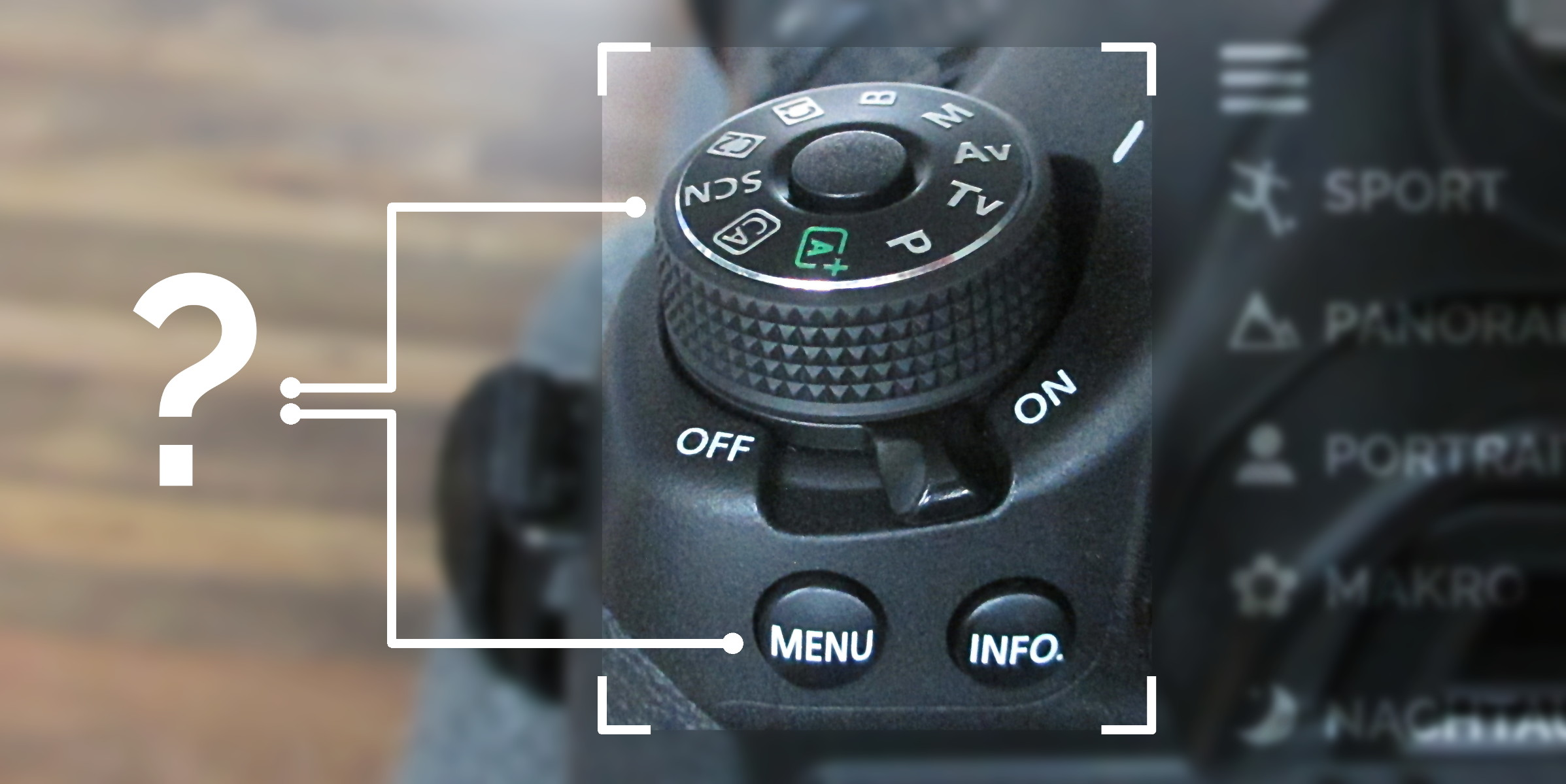 Besser fotografieren durch die richtige Einstellung: Kamera-Wählrad und Kameramenü